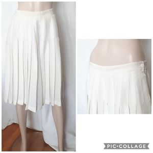 Vintage Knife-pleated Midi Skirt